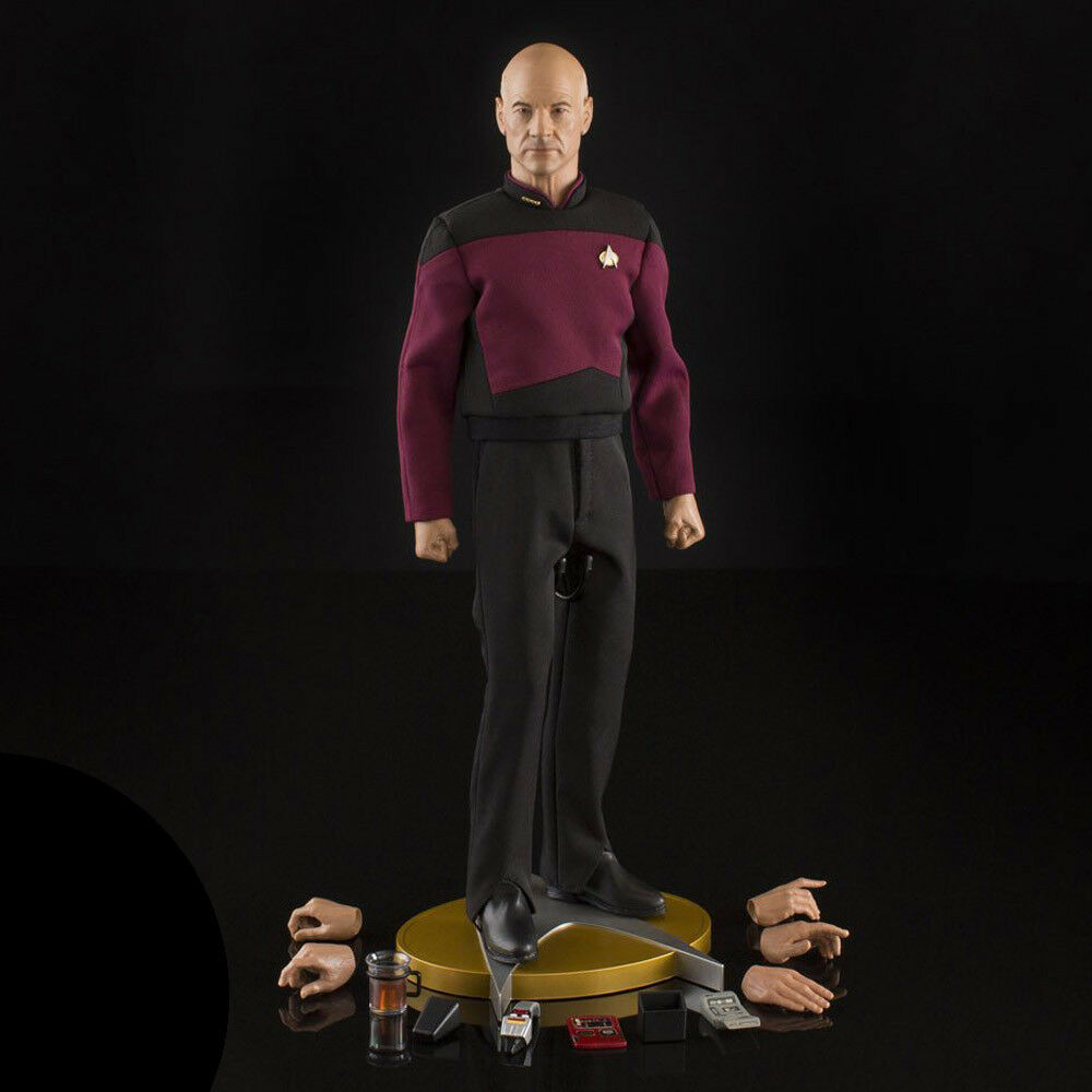 Star Trek TNG 1:6 Captain Jean-Luc Picard Action Figure QMX Official Collectible