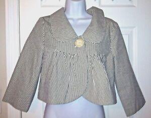 Women S Ivy Jane Uncle Frank Seersucker Jacket Blazer Crop Coat