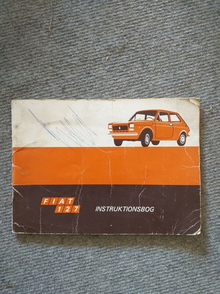 Fiat 127 instruktionsbog, Fiat 127 instruktionsbog