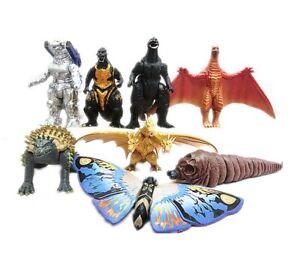 Godzilla-Gojira-2019-Movie-Monster-Mechagodzilla-Trendmaster-Gigan-8pcs-Figures