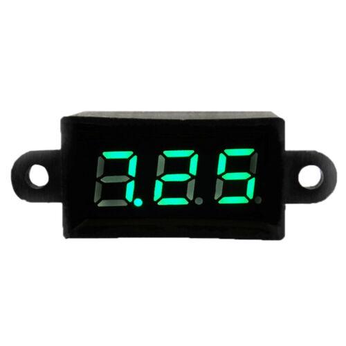 "MagiDeal Wasserdicht 0.28 /""DC 3.5-30V Mini Digital LED Voltmeter Meter Grün"