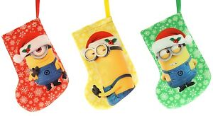 image is loading minion mini hanging stockings christmas tree decorations pack - Minion Christmas Stocking