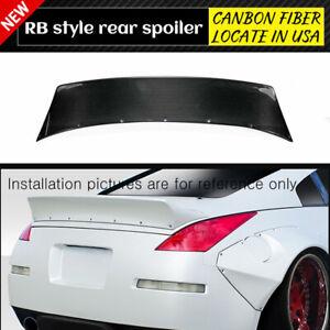 For Nissan 350Z Z33 Carbon Fiber RB2-Style Rear Trunk Spoiler Wing Lip Trim