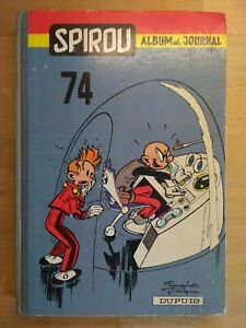 Le-Journal-de-Spirou-Album-N-74-reliure-editeur-Dupuis-1959