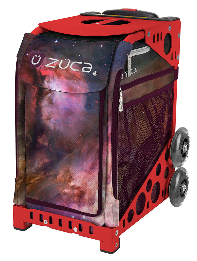 ZUCA Bag GALAXY Insert & Red Frame w Flashing Wheels - FREE SEAT CUSHION