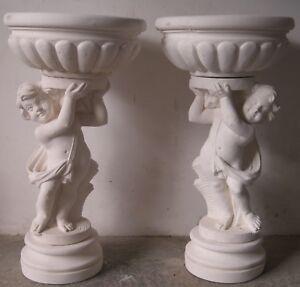 Statua Statue Stock 4 Putti In Cemento Polvere Marmo Arredo Giardino