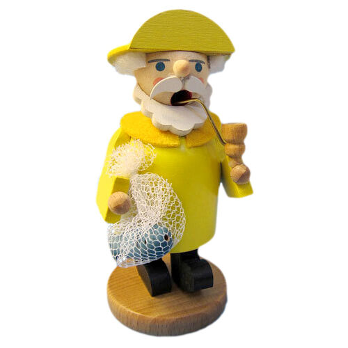 Small Gelb Rain Suit Sailor Incense Burner Smoker Made In Germany
