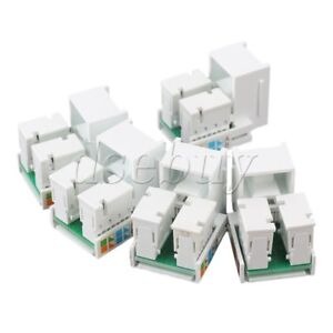 5pcs-RJ45-Cat5e-Network-LAN-Cable-Module-Wall-Plug-Jack-Adapter-White