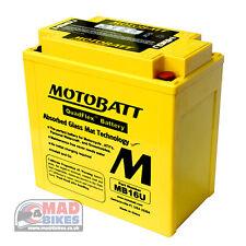 Motobatt MB16U *AGM* High Power Upgrade GEL Battery For YB16BA,YB16BA1,YB16BA2