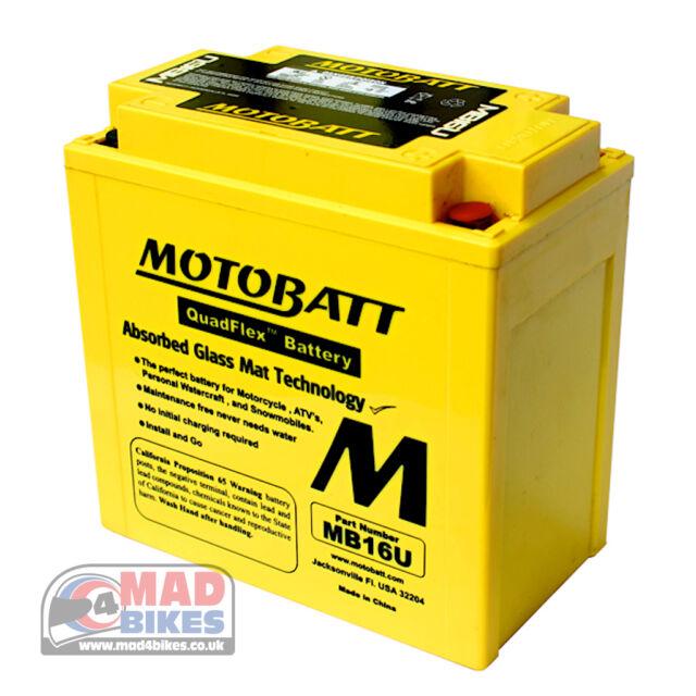 Motobatt MB16U AGM GRAN AUMENTO DE POTENCIA Gel Batería para