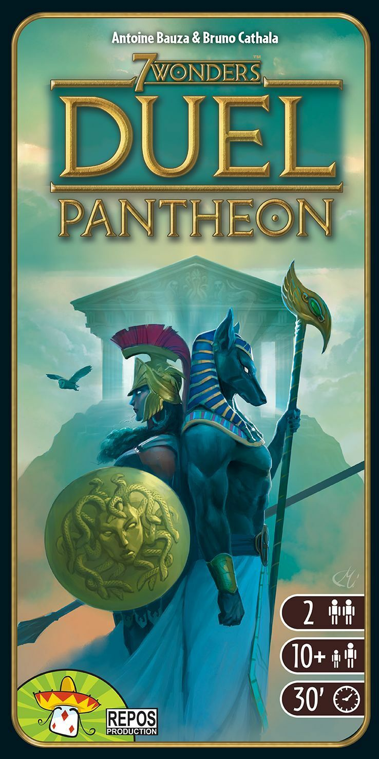 7 Seven Wonders Duel, Expansion Pantheon, New, Italian Edition