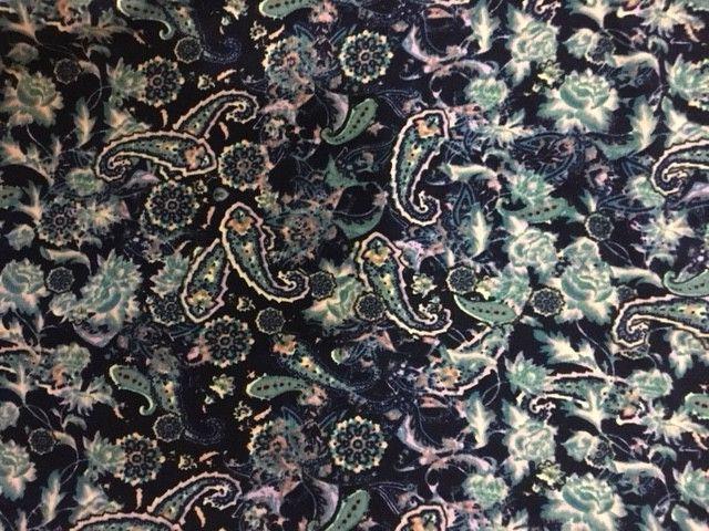 LuLaRoe Leggings OS NAVY - PINK LAVENDER TEAL Paisley Flowers  FLORAL UNICORN