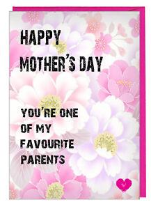 Muttertag Karte.Details Zu Lustig Muttertag Karte Für Mama Step Mum You Re Einer Der Mein Favorit