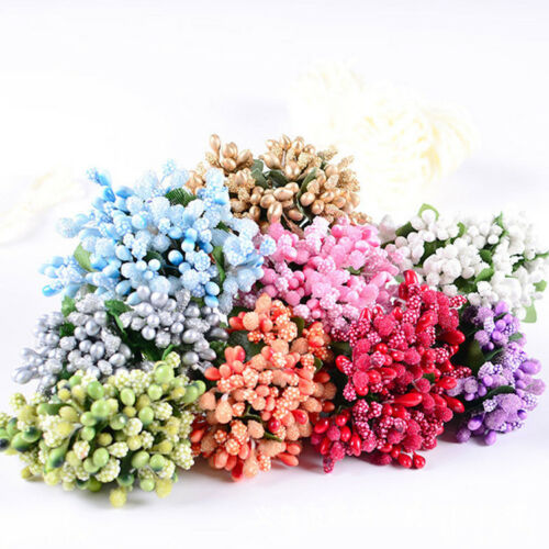 12pcs//Bag Artificial Flower Stamen Wire Stem//Marriage DIY Wreath Wedding Decor