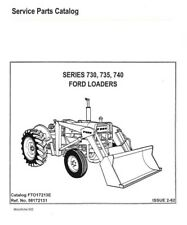 Ford Front Loader 730 735 Amp 740 Service Parts Manual