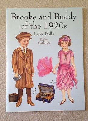 Brooke and Buddy of the 1920s Paper Dolls by Evelyn Gathings 2000, Paperback NEW