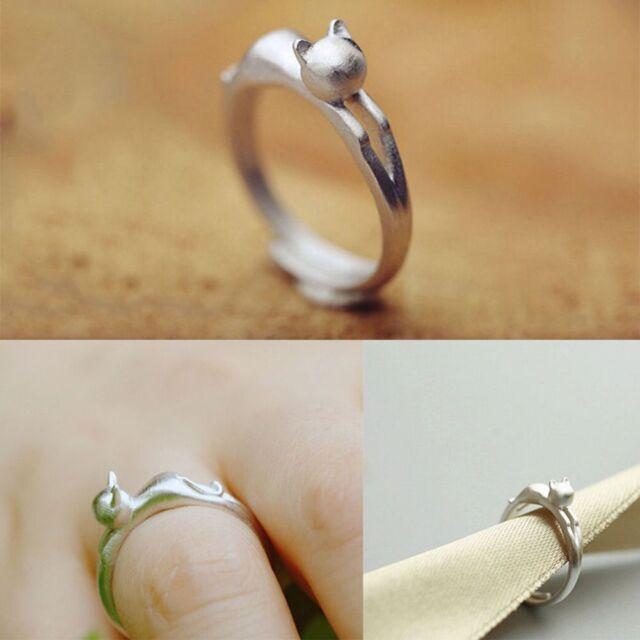 New Design Open Adjustable Wedding Animal Party Jewelry Kitten Cat Ring