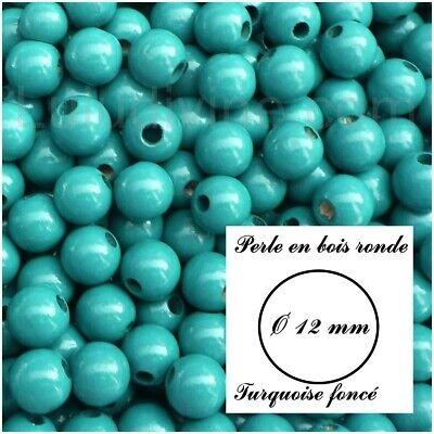 Turquoise lot de 10 perles Perle ronde en silicone de 12 mm