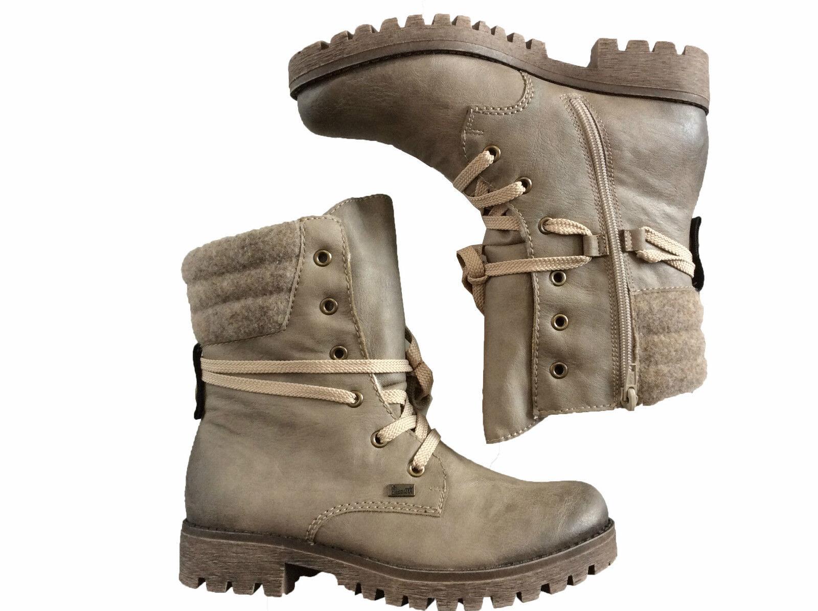 Rieker Stiefelette Stiefel Stiefel Schnürstiefel Beige TEX Damen Schuhe 171259 171259 171259  Qualität zuerst Verbraucher zuerst
