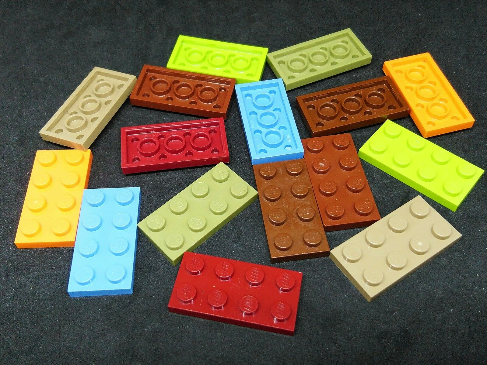 LEGO Lot of 25 Blue 2x4 Plate Pieces
