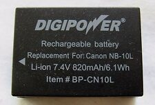 Digipower BP-CN10L Canon Nb10l Li-ion Replacement Battery Black ( b25)