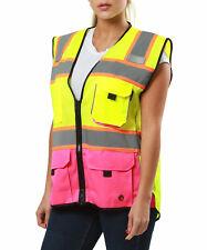 Women Safety Vest Chalecos Reflectantes De Seguridad Para Mujer Pink