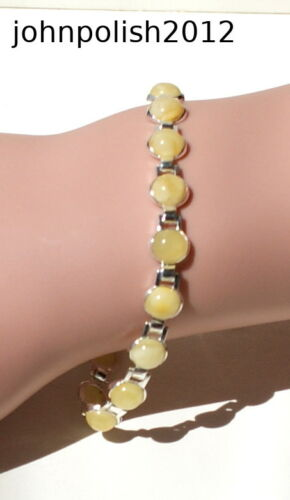 Rich in Colour Baltic Amber Bracelet with Silver 925