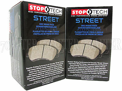 StopTech 308.06210 Street Brake Pads; Front with Shims and Hardware