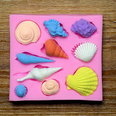 Chocolate Cake Mold Silicone Mould Fondant Baking Decorating Sea Shell Mould DIY