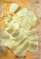 ea5e65584 Knitting Pattern Peter Gregory 7095 Baby DK 4 Ply Matinee Jackets 14 ...