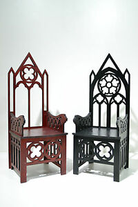 Image Is Loading 2 Throne Gothic Style Chair For Dolls 12