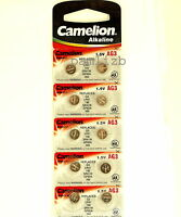 10x AG3 Camelion Alkaline batteries GP92A LR41 SR41W  G3  LR736  SR736  192 392