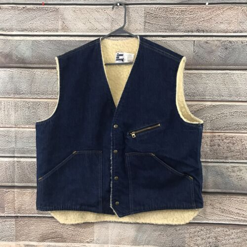 Vintage 50s Denim Trucker Vest XL Deadstock Come O