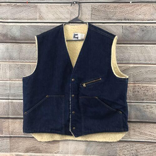Vintage 50s Denim Trucker Vest XL Deadstock Come O