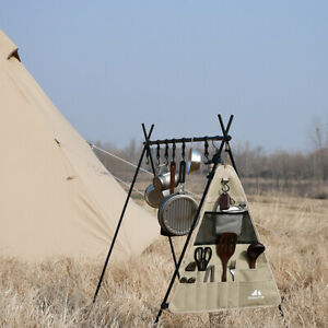 ShineTrip Folding Outdoor Cookware Hanger for Camping Storage Rack L Trianglebag