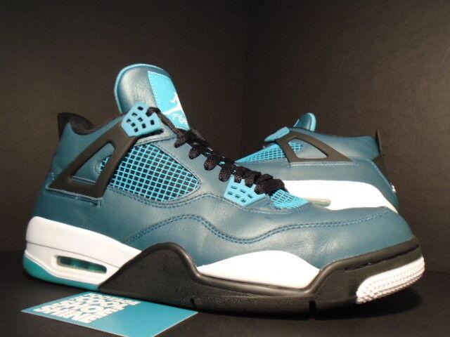 Nike Air Jordan IV 4 Retro 30th TEAL GREEN blanc Noir CEMENT GREY 705331-330 12 Chaussures de sport pour hommes et femmes