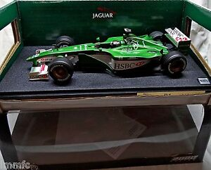 JAGUAR-R1-F1-2000-Eddy-IRVINE-BUILT-1-18-Hot-Wheels-Racing-rare-NO-SPARK