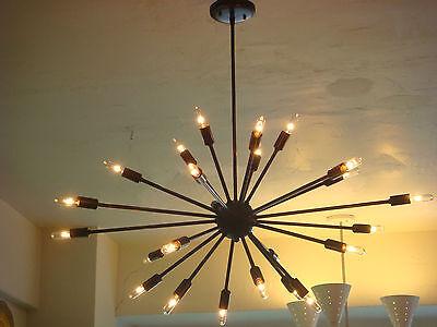 Oil Rubbed Bronze Sputnik Starburst Light Fixture Chandelier Large Filament Bulb Ebay