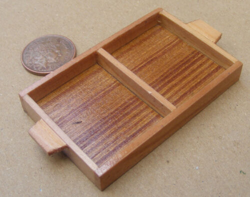 1:12 Scale Single Large Size Wooden Tray Box Crate Tumdee Dolls House Food H