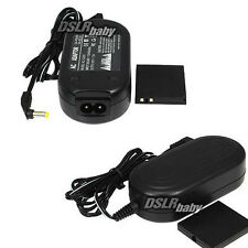 ACK-DC10 AC Power Adapter DR-10 Coupler for Canon SD1000 1400IS Digital 40 50