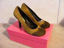 MATERIA PRIMA by Goffredo Fantini wingtip heels NEW IN BOX! SIZE IT 39 US 9B
