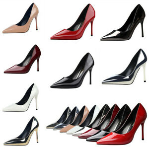 Fashion-Women-Office-Lady-PU-Shallow-Pointed-Toe-High-Heels-Shoes-Stiletto-Pumps