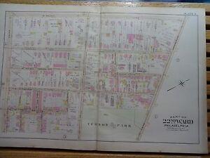 Seltener Zu Germanton Ave SchöNe Lustre 22nd Ward Wayne St 1899 Map Of Philadelphia