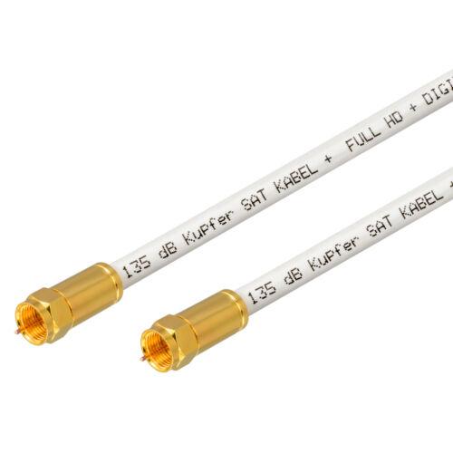 135dB 5-fach Reines Kupfer 4m SAT Anschluss Antennen Koaxial Kabel UHD Ultra 4K