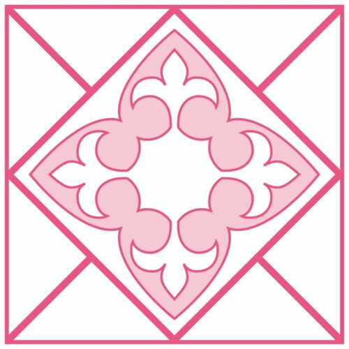 Pink Mosaic Tile Stickers for 150mm x 150mm or 6 Inch Kitchen Bathroom P01