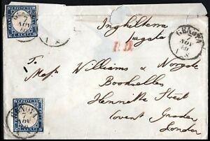 Italy-1860-Cover-Genoa-to-London-Red-PD-London-Red-Paid-Rear-Imperf-20c