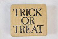 Vintage 1986 Stampa Barbara Trick Or Treat Halloween Wood Mounted Rubber Stamp