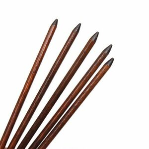 5 x Traditional Carved Ebony Wooden Hair Pin Stick Original Retro Women Ladies