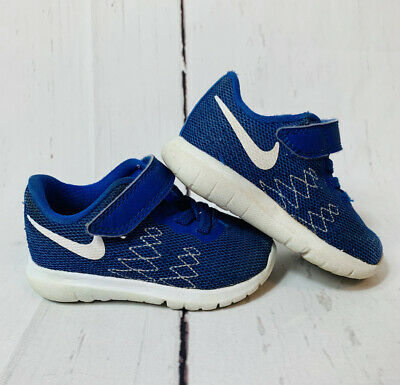 Toddler Boys Nike Flex Running Shoes No lace Blue Size 5C ...