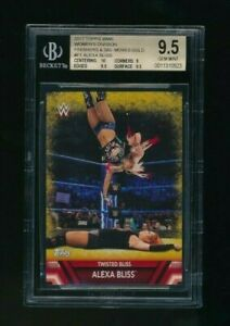 2017-Topps-WWE-Womens-Division-Gold-10-Alexa-Bliss-Famous-Finishers-BGS-9-5